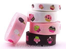 grosgrain ribbon 10 mm 16 mm colorful cupcakes printed grosgrain ribbon crafio my