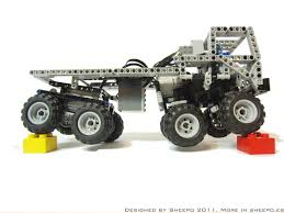 lego technic truck sheepo u0027s garage astra 8x8 mini truck trial now with instructions