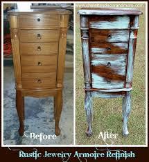 rustic jewelry armoire jewelry armoire refinish
