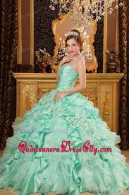 mint quinceanera dresses sweetheart floor length mint colored ruffles quinceanera gowns 181 83