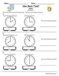 education world clock telling time worksheet