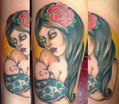 women are getting tattoos to commemorate breastfeeding their