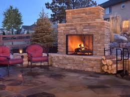 eye catcher patio landscape with modern outdoor fireplace gas