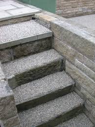 resin bonded gravel steps anti slip surfacing for concrete yard