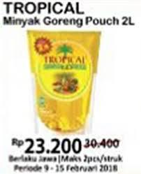 Minyak Goreng Tropical Di Alfamart promo harga bahan masakan terbaru minggu ini katalog alfamart