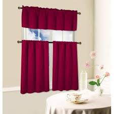 Blackout Kitchen Curtains Kashi Home Blackout Kitchen Curtains Polyester Valance Tiers 3