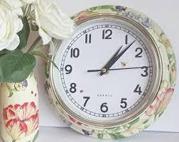 Shabby Chic Wall Clocks by Shabby Chic Clock Etsy