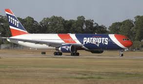 the patriots are using their new plane for the first time today