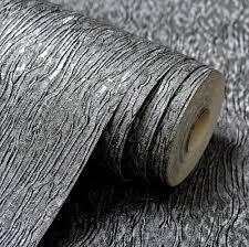 Gray Wallpaper Bedroom - silver grey black metallic textured wallpaper roll gray modern