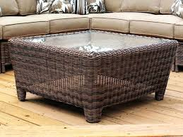 wicker side table with glass top side table wicker side table coffee round picture ideas with