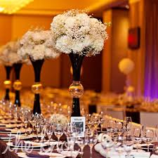 White Hydrangea Centerpiece by Tall Black And White Hydrangea Centerpieces I Heart He Put A