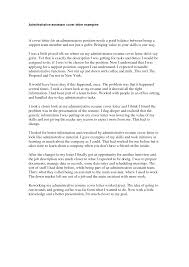 administrative position cover letter 16 sample for assistant