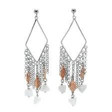 Designer Chandelier Earrings Designer Chandelier Earrings Simulated Gems Gold Plated Silver