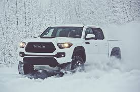 lexus es in snow all new toyota tacoma coming to detroit show