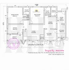 House Plan Floor Plan And Elevation Of Modern House Kerala Home Kerala Home Design Floor Plans