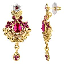 purple stone necklace set images Buy spargz traditional gold plated bollywood purple ad stone jpg