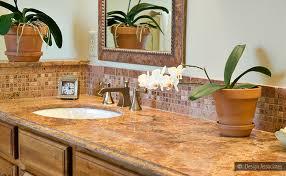 bathroom backsplash designs bathroom backsplash ideas gold countertop brown marble mosaic