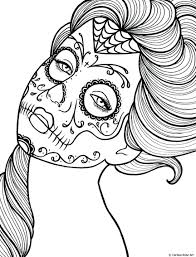 Free Printable Day Of The Dead Coloring Book Page By On Sugar Coloring Cookies
