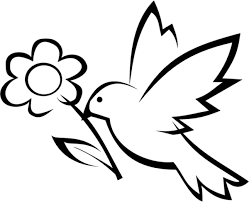 simple bird flower coloring animal coloring pages