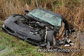 corvette crash cutoff the driver of this corvette forcing him to crash into