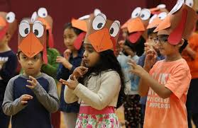 students become turkeys for extravaganza show