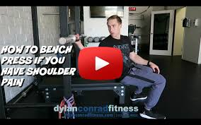 Posterior Shoulder Pain Bench Press How To Bench Press If You Have Shoulder Pain Youtube