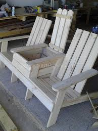 Free Wooden Deck Chair Plans by Magnificent Twin Adirondack Chair Plans Products Coastal Deck