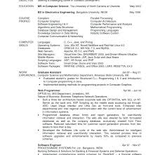 sample resume of computer science graduate download computer