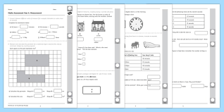 year 4 measurement primary resources assessment page 1