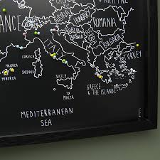 Personalised World Map Pinboard by Maps Update 750542 Push Pin Travel Maps U2013 The Best Push Pin