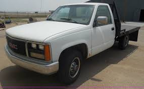 1988 gmc sierra 3500 sle flatbed truck item h3124 sold