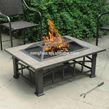 rectangular fire pit stacked stone rectangle w wind sears coffee