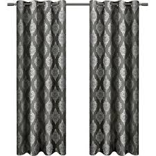 White And Black Damask Curtains Damask Curtains U0026 Drapes You U0027ll Love Wayfair