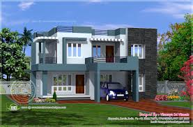 villa plans simple contemporary style villa plan home kerala plans building