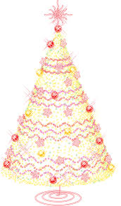 large gold transparent tree with ornaments png clipart