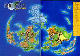 Final Fantasy World Map by World Map Of Final Fantasy Vii