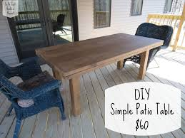 Patio Table Wood Let U0027s Just Build A House Diy Simple Patio Table Details