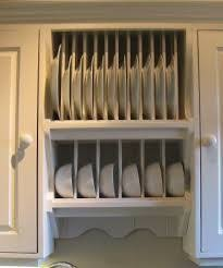 Plate Holders For Cabinets by Upgrade Cabinets By Building A Custom Plate Rack Shelf Cabinet