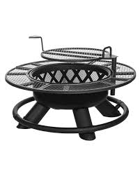 Firepit Grill King Ranch Firepit With Grilling Grate Coastal