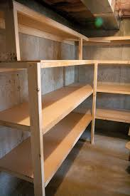 Wood Shelf Plans Basement by Our Unfinished Basement Tour And How We Built Storage Shelves