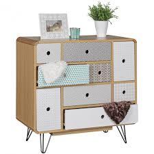 Schlafzimmer Kommode Holz Finebuy Retro Sideboard Scanio Mdf Holz 2 Schubladen U0026 Türen