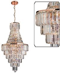 Asfour Crystal Chandelier Endon U0027innsbruck U0027 18 Light Chandelier Pendant Light Rose Gold
