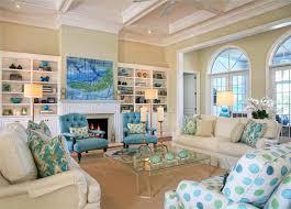 blue living room coastal beach decor with dark furniture ews ideas