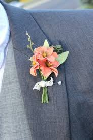 coral boutonniere coral boutonniere coral and lace boutonniere by