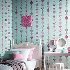 Bedroom Decor Duck Egg Blue Girls Chic Wallpaper Kids Bedroom Feature Wall Decor Various