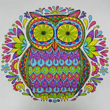 whimsy is forever colouring in for adults owls pinterest