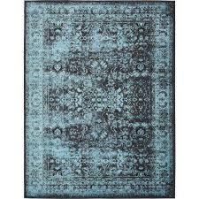 Blue And Grey Area Rug Overdyed Area Rugs Rugs The Home Depot