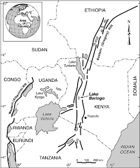 Eastern Africa Map by A Map Showing The Location Of Lake Baringo In East Africa The