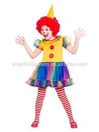 Womens Clown Halloween Costumes Child Girls Cute Clown Costume Kids Circus Fancy Dress