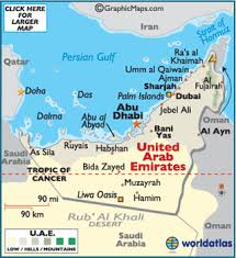 uae map united arab emirates map geography of united arab emirates map